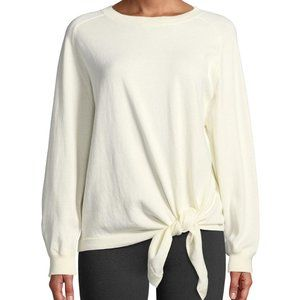 VINCE Tie Waist Cotton Crew Neck Sweater Sz M